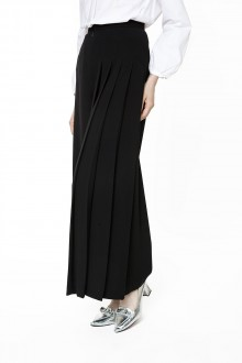 Pleated Cullote Pants in black