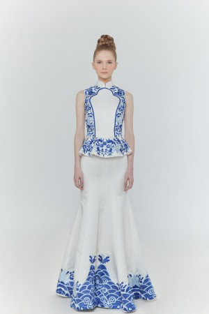 Blue Porcelain Gown